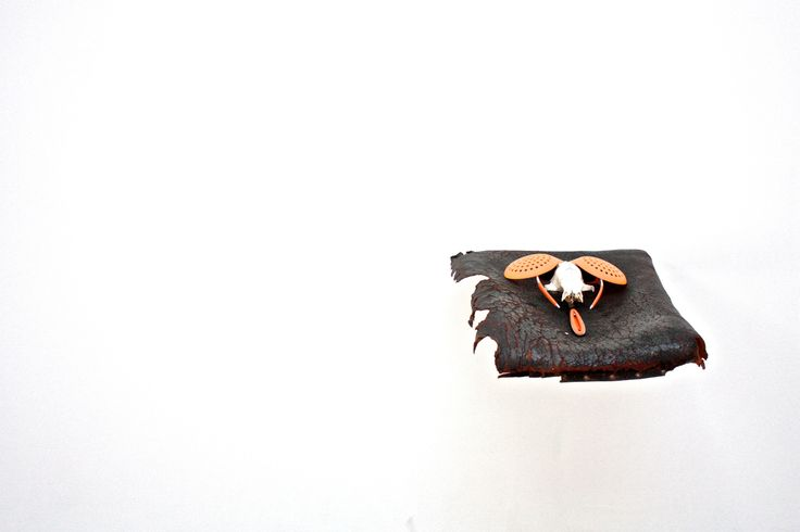 Mask (Intra),   steel, sunglass, bone, plastic, rubber, leather, wood, 55x45x12 cm.