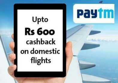 Cleartrip Paytm [PTDEALOW/PTDEALRT] Offer  Get Rs.600 Cashback On Domestic Flight Booking