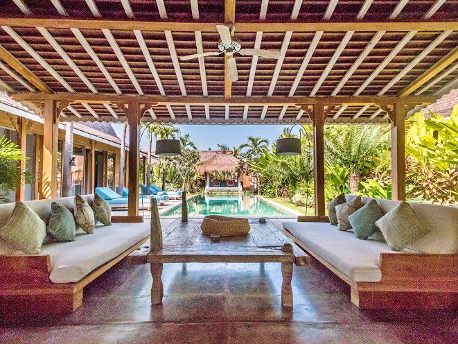 Villa Little Mannao | 4 bedrooms | Kerobokan, Bali | Combine with Villa Mannao to make 12 bedroom rent option #villa #interior #swimmingpool #openair #livingroom #bali #holidayvilla