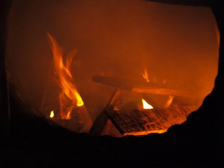 Starting the fire for steam.  Taken by Bruce D Bennett