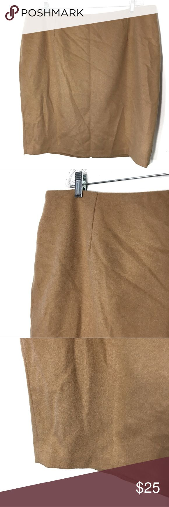 Lord & Taylor Wool Blend Camel Tan Pencil Skirt Plus size wool blend pencil skirt from Lord & Taylor, beautiful and classy camel/tan coloring. So soft, and lined. You'll have the classiest skirt in your office by far. Lord & Taylor Skirts Pencil