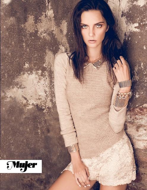 Sweater lana punto, Revista Mujer domingo 7 Abril 2013.