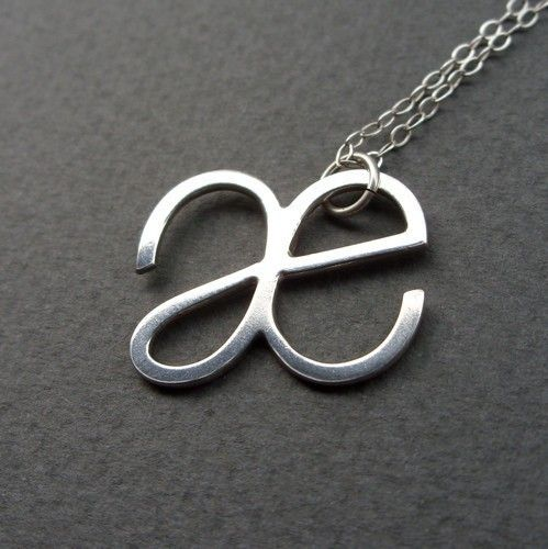 Custom International Phonetic Alphabet (IPA) Symbol Necklace - Letter, Initial. $38.00, via Etsy. - pinned by @PediaStaff – Please Visit ht.ly/63sNtfor all our pediatric therapy pin
