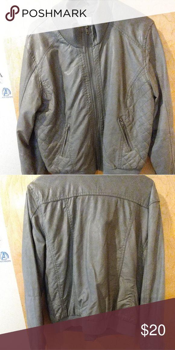 Ladies Bomber Jacket Ladies grey leather bomber jacket Jackets & Coats