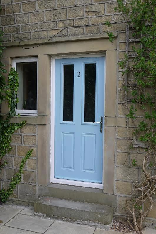 Duck Egg Blue Cottage Style Composite Door
