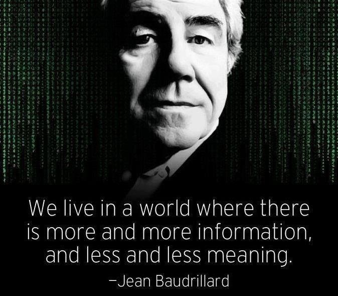 More information and less meaning | Jean Baudrillard