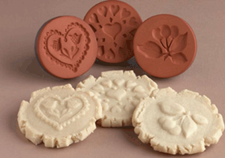 "Rycraft 2"" Terra Cotta Cookie Stamps – Cherished Collectibles Since 1968: Helping You Create Sweet Memories and Family Traditions with Delightful Holiday Cookies and Unique & Beautiful Homemade Gifts"