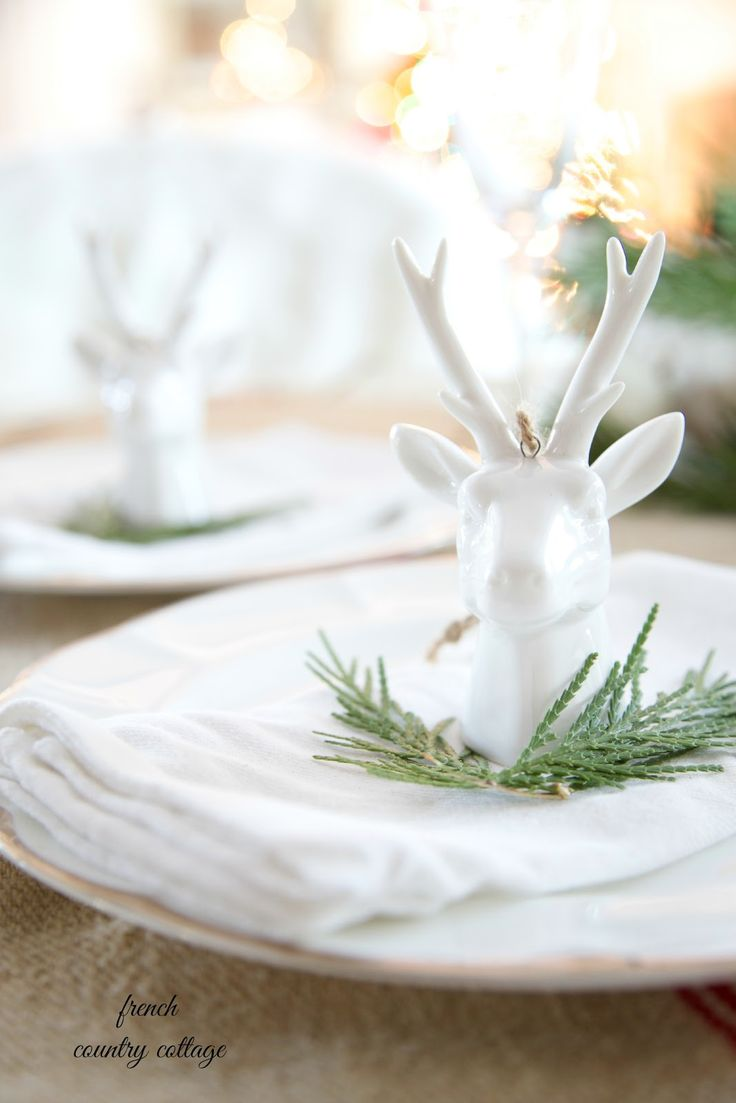 Reindeer place card holders - FRENCH COUNTRY COTTAGE