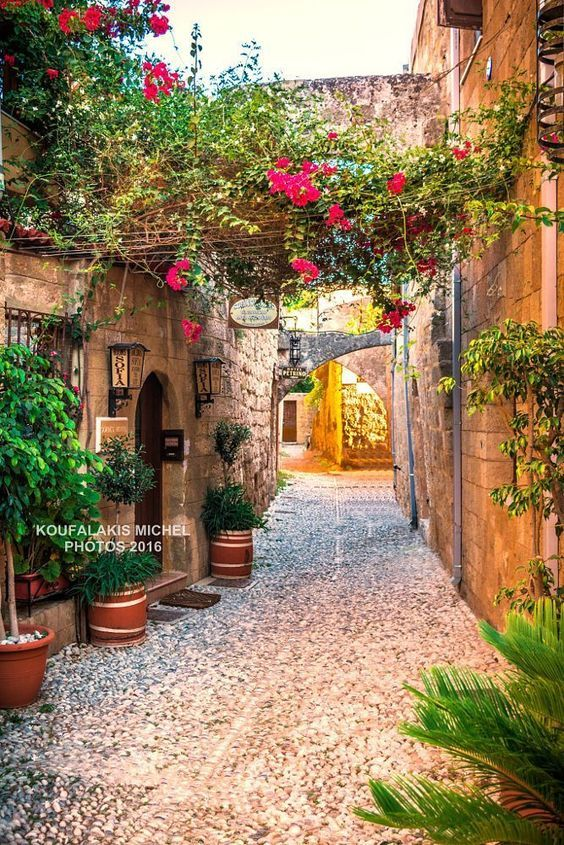 Old town of Rhodes, Greece