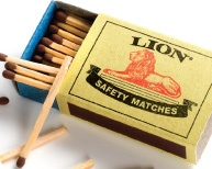 A box of Lion matches