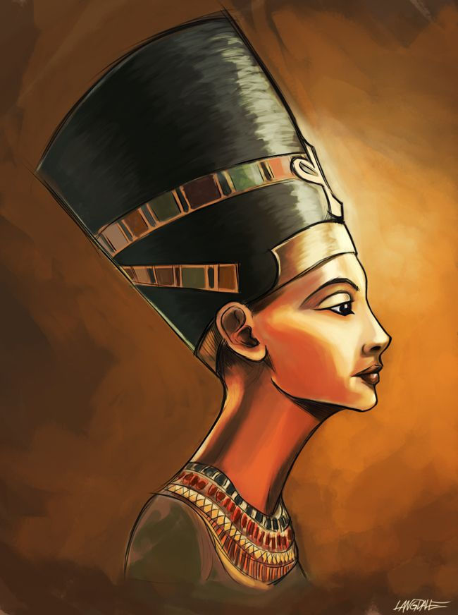 nefertiti painting by ~TheQuezot on deviantART