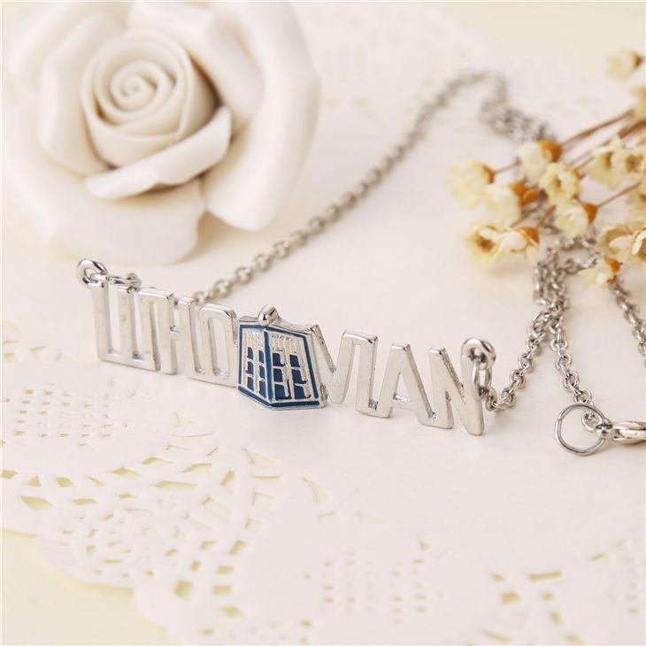 Доктор доктор кто ожерелье тардис полиция box старинные голубой серебряный кулон ювелирные изделия для мужчин и женщин оптовая продажа