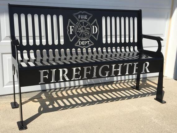 Firefighter Steel Bench