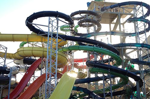 Fortaleza, on the North East coast of Brazil is home to Beach Park, the biggest waterpark in South America
