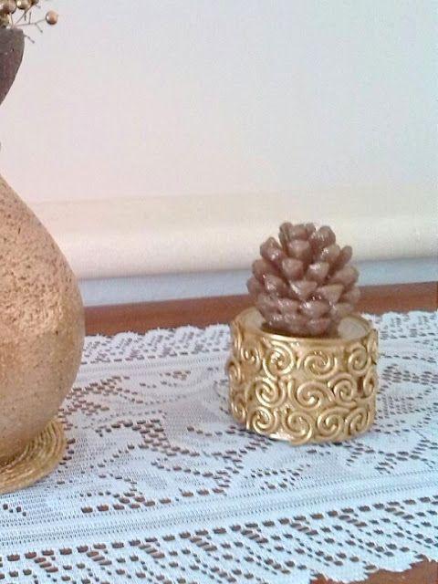 Buenas Ideas con yoyo: portavelas: reciclando lata con pasta cruda.