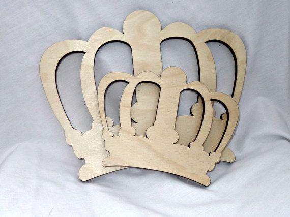 Forma de madera corona real de Rey Reina por TheFairyPaintbox