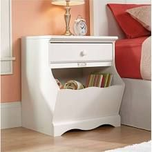 Sauder Woodworking Pogo Collection Night Stand in Soft White | 414433
