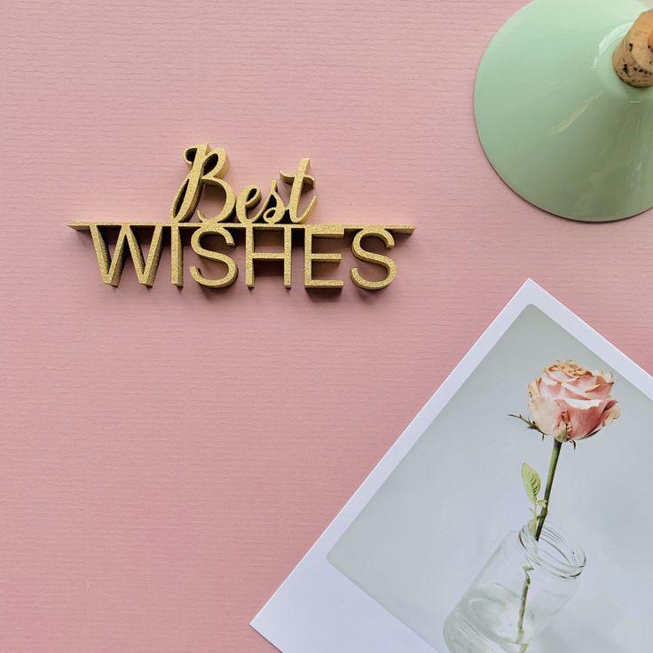 Best wishes, 12,99 € - NOGALLERY - 3D Holzschriftzüge