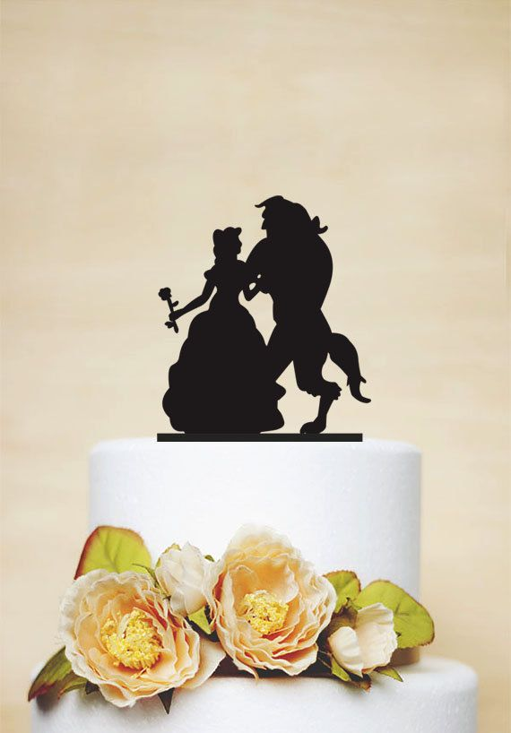Beauty And Beast Wedding Cake Topper,Custom Cake Topper,Elegant Cake Topper,Disney Style Cake Topper,Unique Cake Topper - P057 by AcrylicDesignForYou on Etsy https://www.etsy.com/listing/232444647/beauty-and-beast-wedding-cake