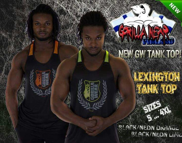 YO! Gorilla Wear pukkaa uutta vaatetta ulos.. Tässä maistiaisia tulevasta Lexington Tank Top'sta! Uutta muotoilua, uudella hienolla Gorilla vaakunalla; ennakkoon tilattavissa pian verkkokaupastamme !!!  Valmistettu 100% Polyesteristä, saatavana S - 4XL kokoisena; Musta Neon-Oranssi tai Neon-Lime värityksellä.   #gorillawear #lexington #tanktop #men #mens #GW #desing #treenivaate #paita #gorillawearfinland #nettikauppa #verkkokauppa #saajakaa #osta #mies #miesten #lahja #lahjaidea #jaa