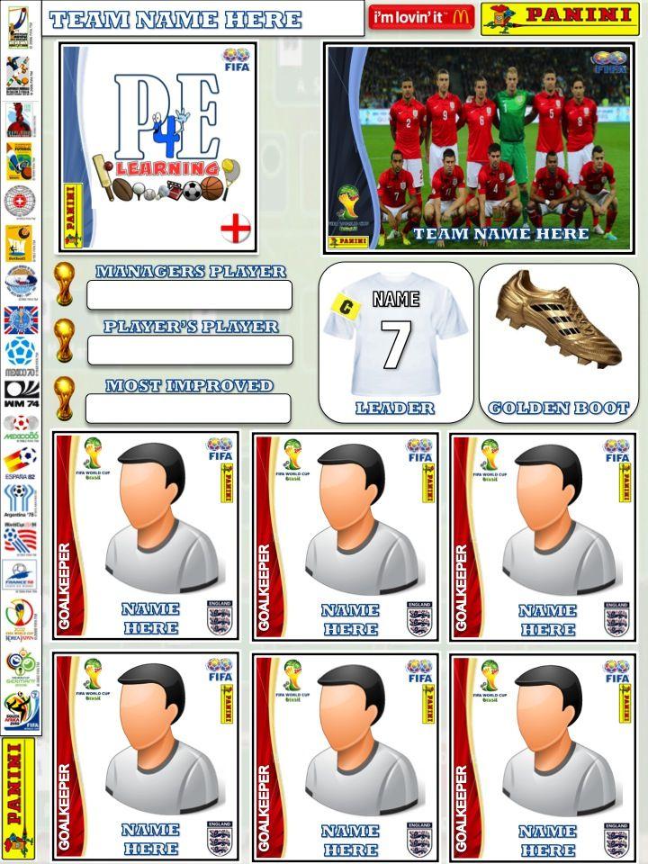 Football Team Sticker Album – PE4Learning