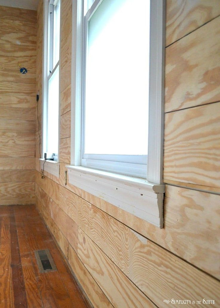 This tutorial goes over the 5 reasons why you'd want to choose exterior plywood to faux shiplap your walls instead of luan underlayment or even real shiplap planks