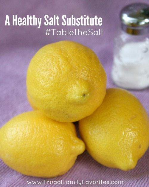I had no idea that lemons could be used as a healthy salt alternative.