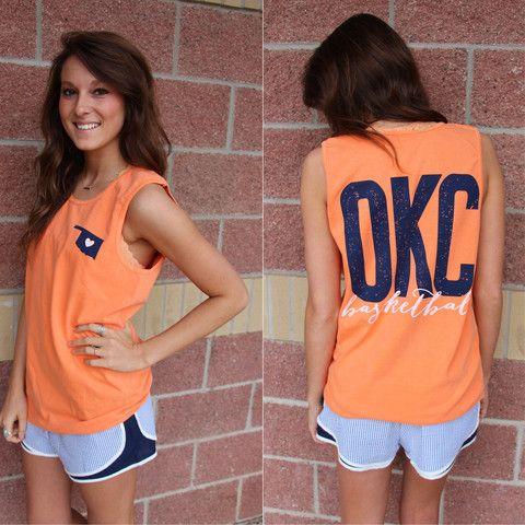 OKC basketball comfort colors tank top-more colors