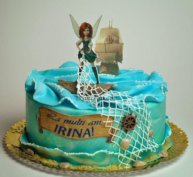 "Nina's Art Cake: Tort ""THE PIRATE FAIRY ( ZANA PIRAT)"" pentru Irina"