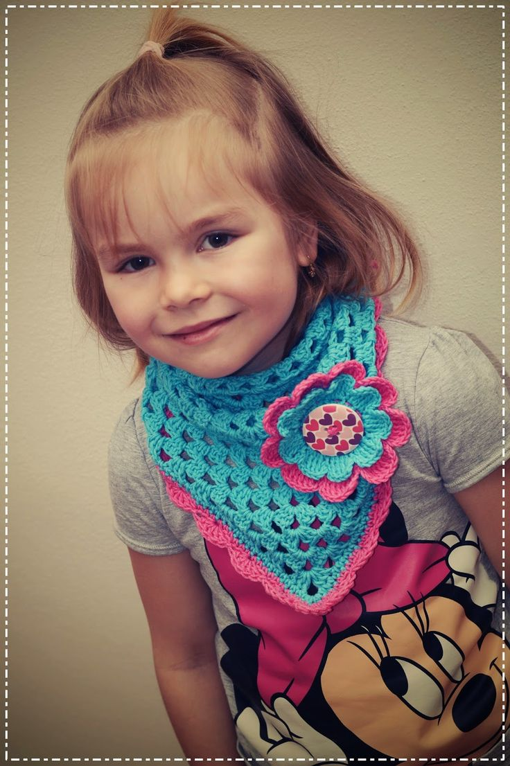 bandorka: Háčkovaný šátek