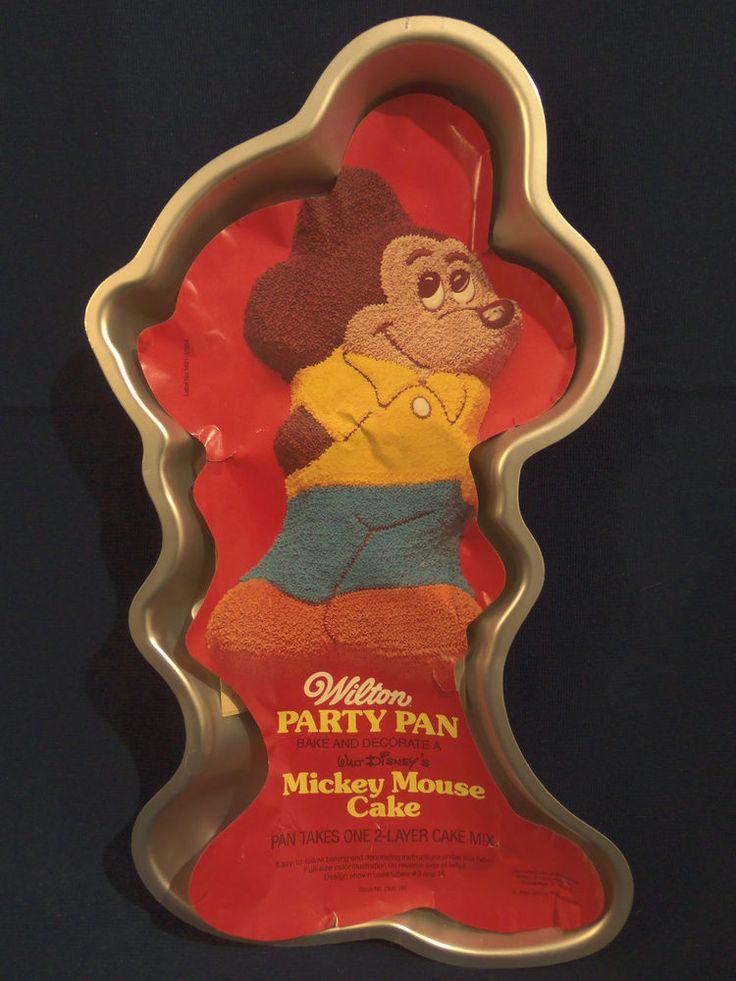 Vintage 1978 Wilton Disney Mickey Mouse Full Body Cake Pan
