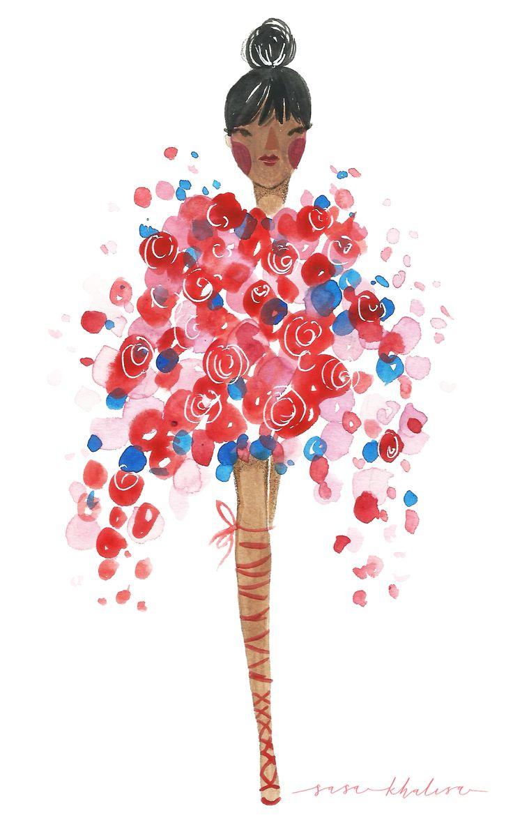 Rihanna at Met Gala 2017 | Fashion Illustration by Sasa Khalisa