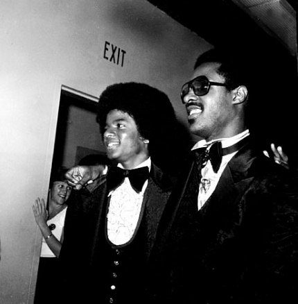 Michael Jackson and Stevie Wonder.
