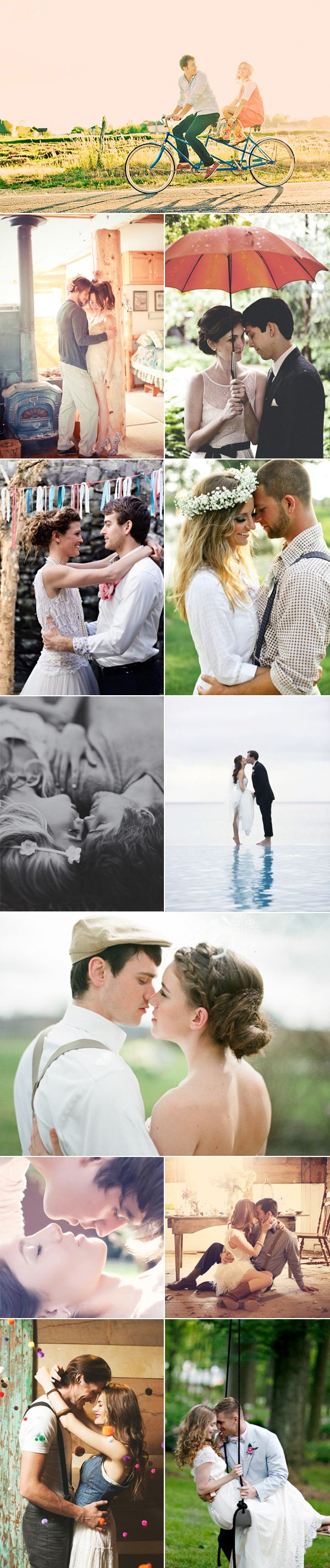 Love all these engagement photos - really depicts the romance between these couples