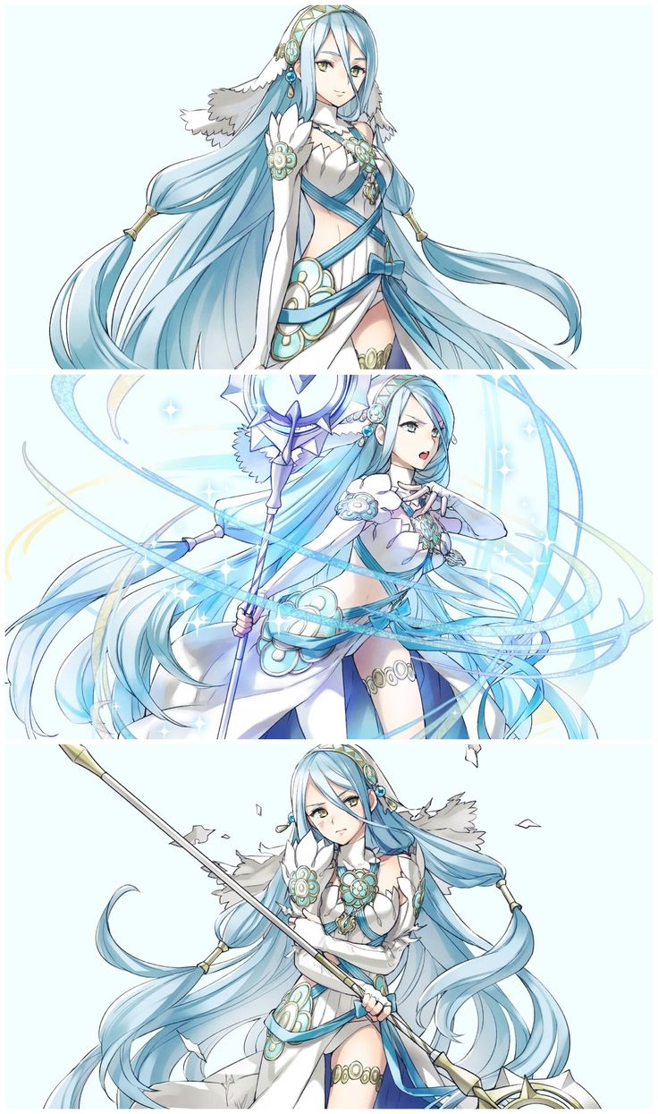 Azura sprites from Fire Emblem Heroes