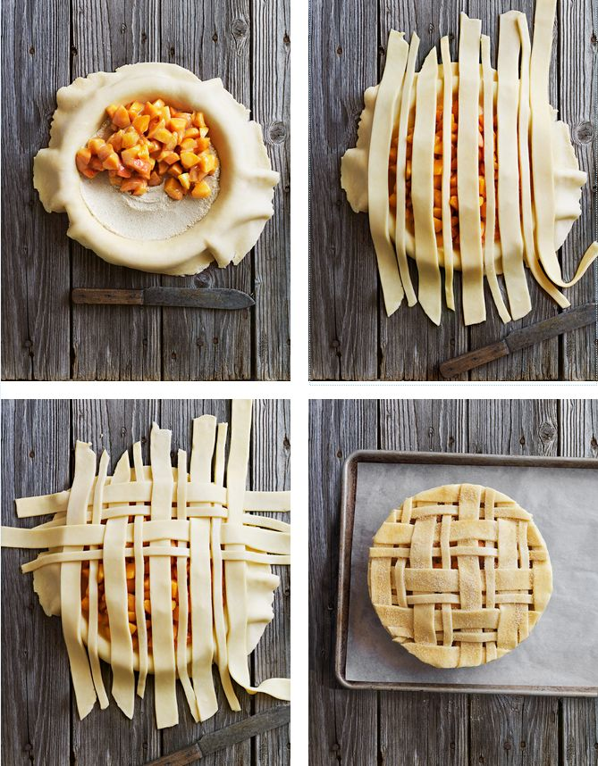 How to make a simple lattice pie crust by donna hay