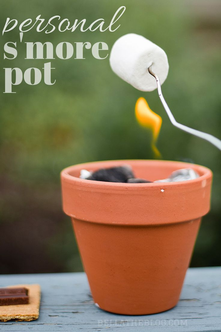DIY S'MORE POT: less than $5 to create this super easy roasting pot - perfect for smores on your back porch this summer!
