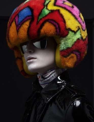 Make an eccentric head piece from an old batting helmet. (Light weight is better than motorcycle helmet.)
