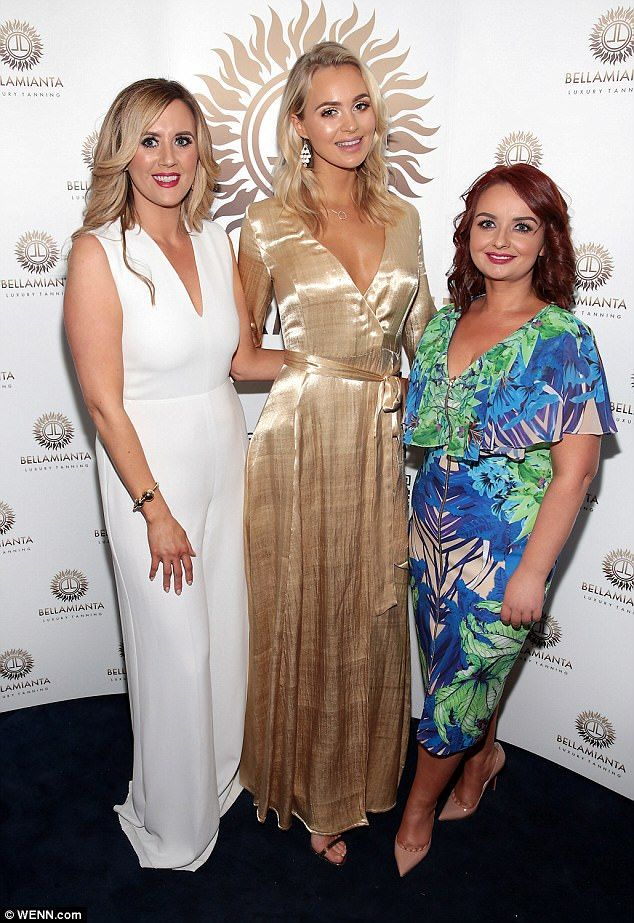 Poster girl: The statuesque blonde is fronting the new Bellamianta tanning range...