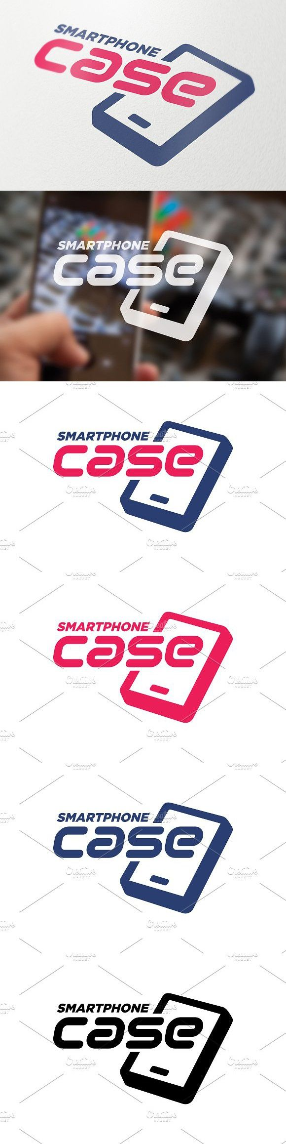 Smartphone Accessories Symbol. Business Infographic