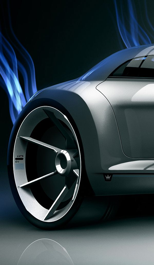 Making of Xtreme Hotrod rendering by Olivier Gamiette, via Behance
