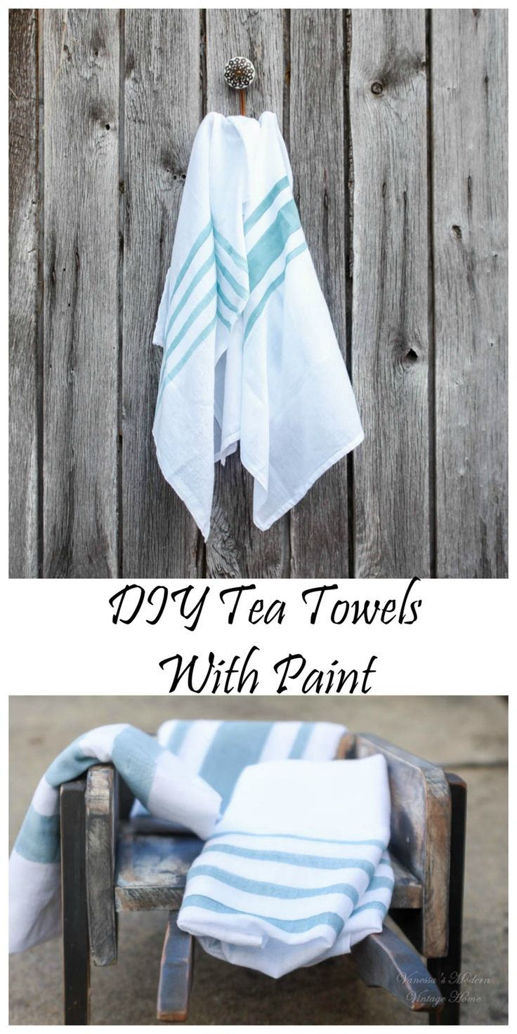 DIY Tea Towels - Vanessa's Modern Vintage Home
