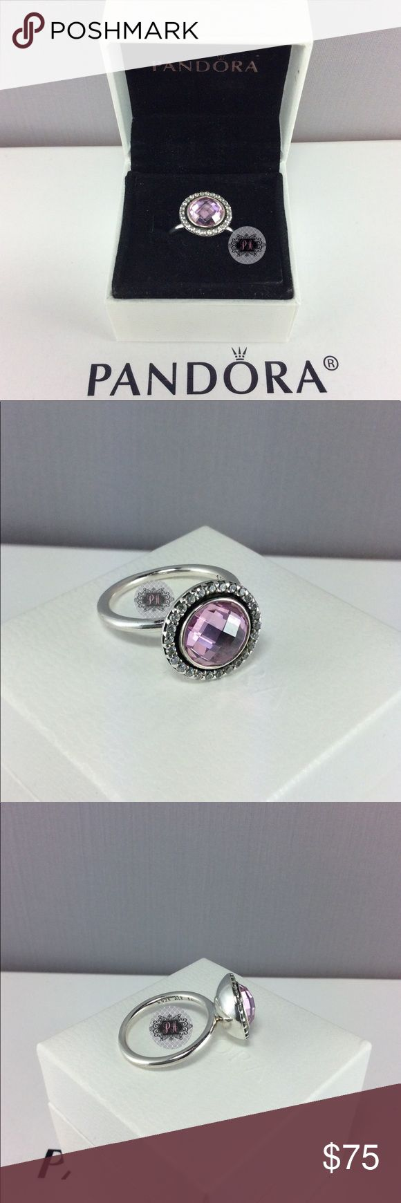 Pandora Brilliant Legacy Pink & Clear CZ Ring Authentic Pandora Brilliant Legacy Pink and Clear CZ Ring  Pandora Charms. Pandora New Charms. Pandora Retired Charms. Pandora Bracelets.  Signature markings Ale S925  Condition: Gently used   Retail: $115.00  🔵PRICE IS FIRM UNLESS BUNDLED  ⚫️NOT ACCEPTING LOWBALL OFFERS!!! 📦BOX INCLUDED IN THE SALE Pandora Jewelry Rings