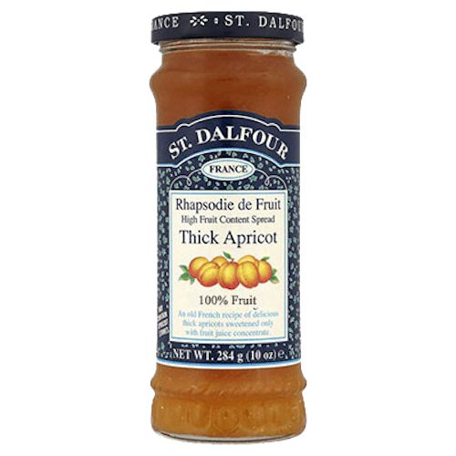 A delicious thick apricot fruit spread / jam.  An Old French recipe of delicious Apricots sweetened only with fruit juice concentrate. Sugar free.
