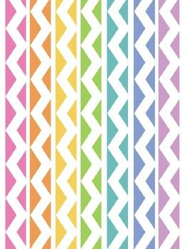 RAINBOW CHEVRON BINDER COVERS - TeachersPayTeachers.com