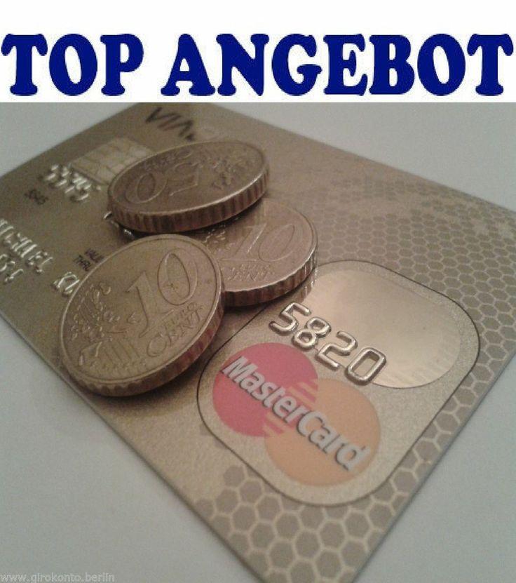 Edele MasterCard incl. Konto ohne Schufa 100 % Annahme einfachste Abwicklung