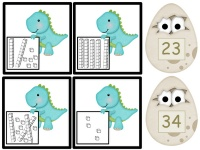 Free Dinosaur (Place Value) Match