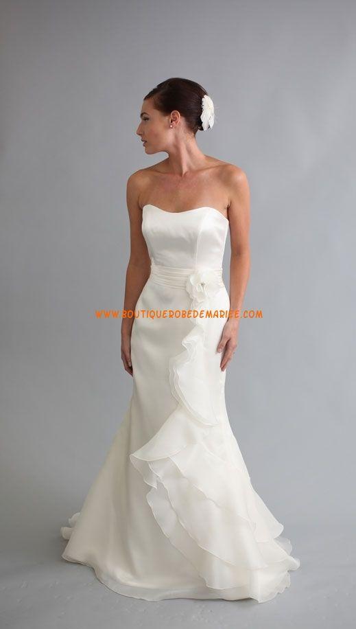 Robe de mariée 2011 glamour ceinture organza