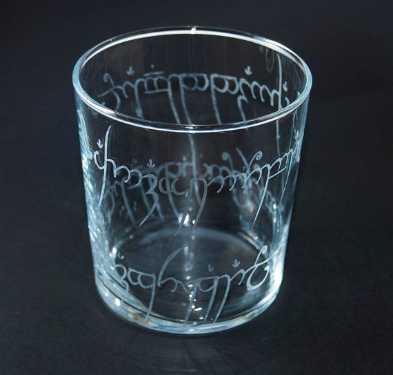 The One Ring Glass Lord of the rings by MJ2Artesanos on Etsy, €8.95