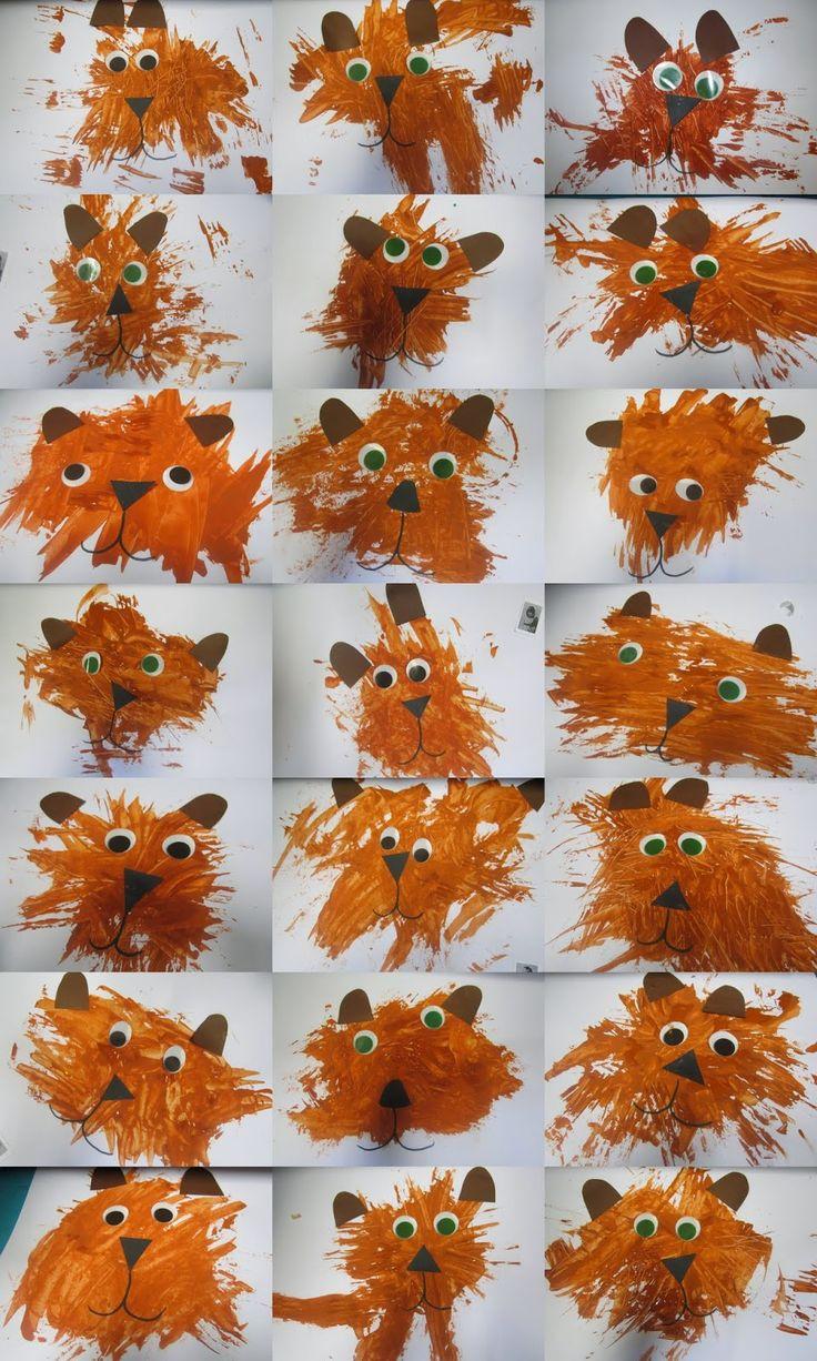 De Kikkerklas: Schilderen van een beer met een vork!